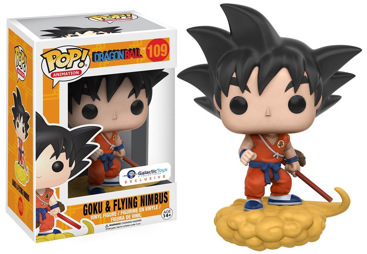 Funko Pop Animation Dragonball Orange Suit Goku and Flying Nimbus Exclusive Vinyl Figure