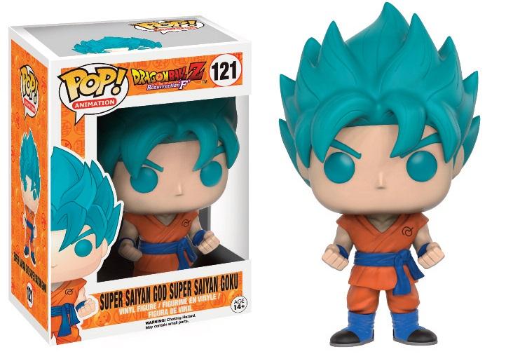 Funko Pop Dragonball Z Resurrection F Super Saiyan God Super Saiyan Goku Exclusive Figure 121