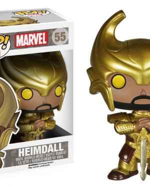Funko POP Marvel (BOBBLE): Heimdall Action Figure with Helmet
