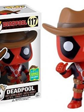 FUNKO POP SDCC 2016 DEADPOOL COWBOY COMIC CON 117 MARVEL