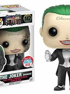 2016 NYCC Exclusive Funko Pop! Heroes Suicide Squad Joker Grenade #147 Limited Edition