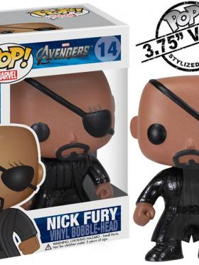 Funko Pop Marvel (Bobble): Avengers - Nick Fury